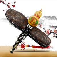 奇宝居 乐器专业演奏收藏型竹节黑檀木管三音葫芦丝C调降B调