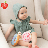 applepark婴儿摇铃可入口啃咬宝宝抓握摇铃安抚手偶毛绒益智玩具