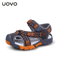 UOVO夏季包头男童凉鞋新款儿童沙滩鞋镂空中小童宝宝凉鞋韩版童鞋 玛瑙斯2