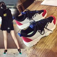 新款镂空透气内增高皮面小白鞋女鞋夏季百搭单鞋休闲鞋运动鞋