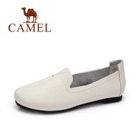Camel/骆驼女鞋 春季新款 韩版简约套脚纯色浅口鞋 平底单鞋