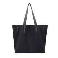 文艺帆布包女单肩包牛津布尼龙女包通勤手提包购物袋托特包大包包