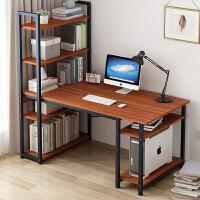 【爆款】电脑桌书桌简约书架组合一体台式桌学生租房家用卧室简易学习桌子