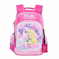 芭比女童书包 0416小学生可爱公主背包 红色/粉色卡通双肩背包