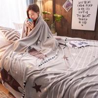 毛毯 绒毯法兰绒毯子印花毛毯加厚冬季保暖毯