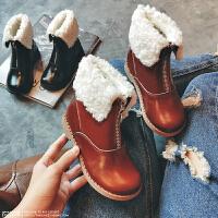 女童靴子加绒保暖公主棉女孩马丁鞋子