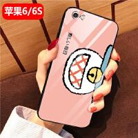 苹果6s手机壳女款8plus可爱a1593全包iPhone7玻璃保护套六防摔6Splus 苹果6/6s-粉色叮当猫