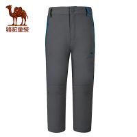 骆驼春夏男童速干裤儿童透气快干裤旅行防虫户外长裤