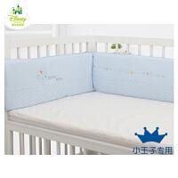 迪士尼宝宝可爱宝贝不可拆洗围栏 新生婴儿防护栏加厚床围档棉床品 (120x65cm)