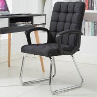 办公椅电脑椅用职员椅会议椅学生宿舍座椅现代简约靠背椅子 钢制脚 固定扶手