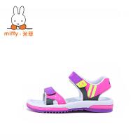 【儿童节大促-快抢券】Miffy米菲2017新款夏季童鞋儿童凉鞋男童男孩中大童小孩沙滩鞋子