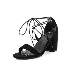 O'SHELL欧希尔夏季上新007-77-5韩版磨砂绒面女士凉鞋