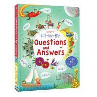 【首页抢券300-100】Usborne原版英文 Lift The Flap Questions & Answers 问