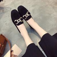 女鞋春秋新款豆豆鞋女学生韩夏社会妈妈鞋单鞋女平底鞋百搭小皮鞋