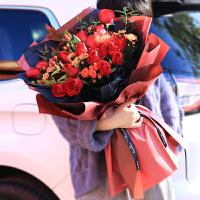 【新品】苏州同城花束混搭香槟红玫瑰鲜花礼盒鲜花速递生日送花上门鲜花店 其他颜色 告白 不含花瓶