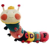 毛毛虫多功能安抚玩偶婴儿新生儿宝宝摇铃响纸毛绒布艺玩具