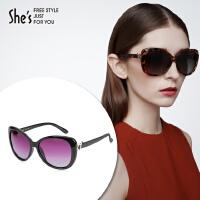 She's茜子 女士太阳眼镜 偏光镜片太阳眼镜 渐变墨镜 室外大框遮阳眼镜礼物
