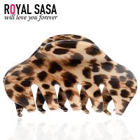 皇家莎莎RoyalSaSa韩国头饰中号豹纹发抓夹 韩版盘发爪夹竖夹发夹发饰品HS1407SP874