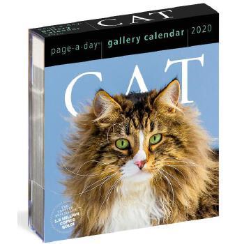 【现货】英文原版 2020年画廊日历:猫咪  猫奴适用 进口台历 办公室桌面摆件(亚克力) 精美装帧 新年礼物 Cat Page-A-Day Gallery Calendar 2020 每天一页 国营进口!品质保证!