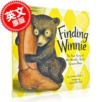 现货 寻找维尼熊:世界小熊的真实故事 英文原版 FINDING WINNIE 凯迪克金奖 儿童绘本 Lindsay M