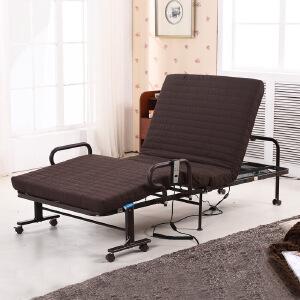 未蓝生活电动折叠床遥控升降老人病人家用休闲护理床 床垫宽90cm厚8cm VLE09B