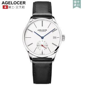 agelocer艾戈勒手表女休闲机械表全自动真皮防水女表皮带简约腕表