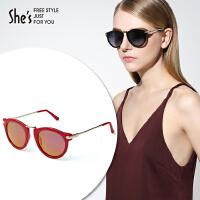 She's茜子女士太阳眼镜 猫眼复古墨镜 驾驶海边偏光太阳眼镜 多色可选礼物