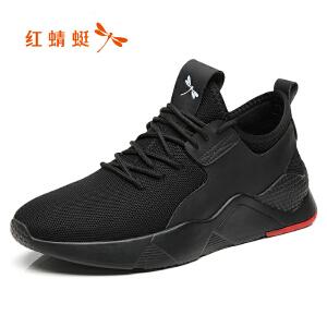红蜻蜓男鞋春季2019新款运动休闲鞋韩版潮流透气网鞋百搭跑步鞋子C0191396