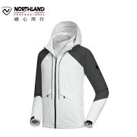 诺诗兰19秋冬新款户外可拆卸外套保暖男士三合一冲锋衣GS085515