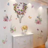 田园风唯美浪漫花朵贴画墙贴背景墙客厅卧室个性简约自粘墙纸贴画