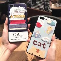 苹果6手机壳iPhone6/6s/plus手机壳硅胶硬底套情侣全包卡通男女款CAT猫