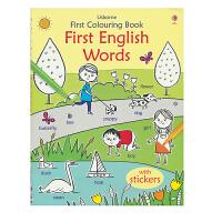 【首页抢券300-100】Usborne First Colouring Book First English Word