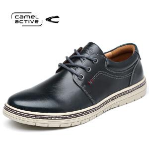 骆驼动感(Camel Active)圆头系带百搭休闲鞋车缝线防滑耐磨时尚流行男鞋