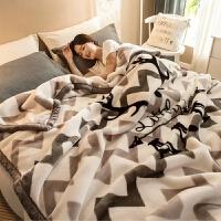 20191106213222685珊瑚毛绒毯子冬季用加厚法兰绒拉舍尔毛毯床单人保暖学生宿舍被子