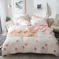 床上三件套天纯棉床单被罩四件套冰丝春小清新床品套件 2.0米床四件套:被套220*240cm 床单24