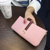 欧美新款手拿钱包女长款拉链时尚简约手机大钞钱夹潮皮夹