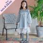 秋季新款时尚童连衣裙拼接波点网纱韩版童裙母女亲子装裙子