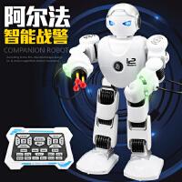乐能阿尔法战警2.4G遥控智能机器人 编程演示唱歌跳舞礼品玩具