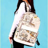 中学生初中生新款双肩包女休闲背包 帆布韩版森系学生书包