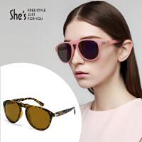 【商场同款】She's茜子 女士太阳眼镜 时尚蛤蟆镜大框偏光墨镜 开车驾驶遮掩眼镜礼物
