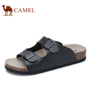 camel骆驼男鞋  夏季新品拖鞋 时尚一字拖 软木鞋底休闲凉拖鞋
