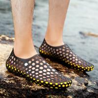 抖音同款 洞洞鞋女夏季沙滩鞋防滑透气轻便大码女士凉拖鞋子鞋2019新款