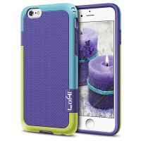 苹果6拼色手机壳撞色iPhone6s Plus硅胶i8保护套6s防摔壳带挂绳7p 6plus/6splus【5.5】紫色