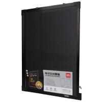 包邮得力8731挂式电子荧光板钢化玻璃荧光黑板广告牌写字板50x70cm