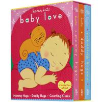 英文原版绘本daddy mommy hug Counting Kisses爸爸抱妈妈抱抱 数几个吻 Karen Kat