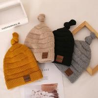 秋冬宝宝毛线帽子儿童女童婴儿女孩潮针织帽