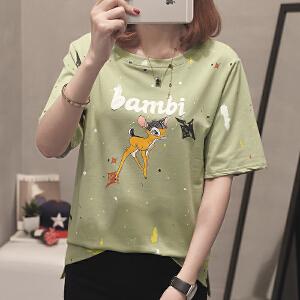 女短袖夏季新款新款t恤韩版宽松潮流T恤女上衣