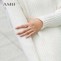 【每满200减100 多买多减 不封顶】Amii[极简主义]2017新简约百搭时尚金属饰品珍珠戒指首饰11744483