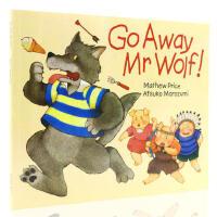 【顺丰速运】英文进口原版廖彩杏书单推荐 Go Away Mr Wolf 走开狼先生 儿童经典故事绘本平装翻翻书 幼儿英