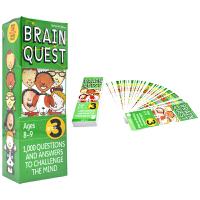 Brain Quest Grade 3 美国全科智力问答 大脑任务 bq问答卡 三年级 8-9岁 儿童英文原版进口图书
